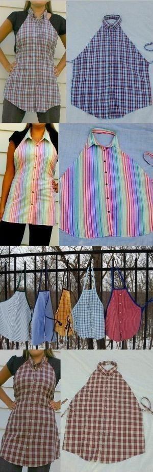 DIY shirt apron This is great! by maria teresa valdetaro