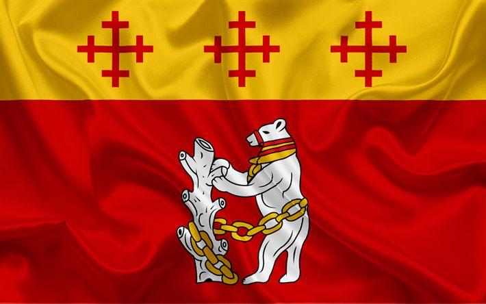 Herunterladen hintergrundbild grafschaft warwickshire flagge england, flaggen der englischen grafschaften, warwickshire flagge, britische, county flags, seide flagge, warwickshire