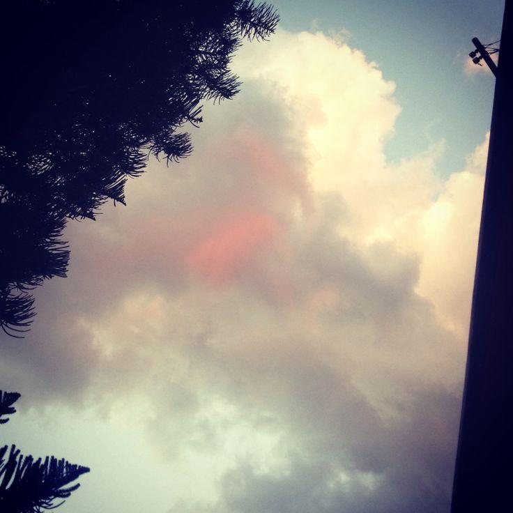 ☁️ #oaxaca #cielo #rojo #nubes