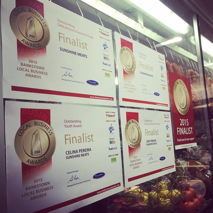Looks like #2015 can be another #winning year! #SunshineMeats is a finalist for the #delicatessen/#gourmetfood and #innovation categories! To cap it off, the father and daughter duo behind Sunshine Meats are in the running for their own individual awards! @celinajaynepereira is in the running for outstanding youth and Jose Pereira for #business person of the year! Wish us #luck for August 12!  #café #deli #portuguese #pereira #sydney #westsydney #bankstown #food #award