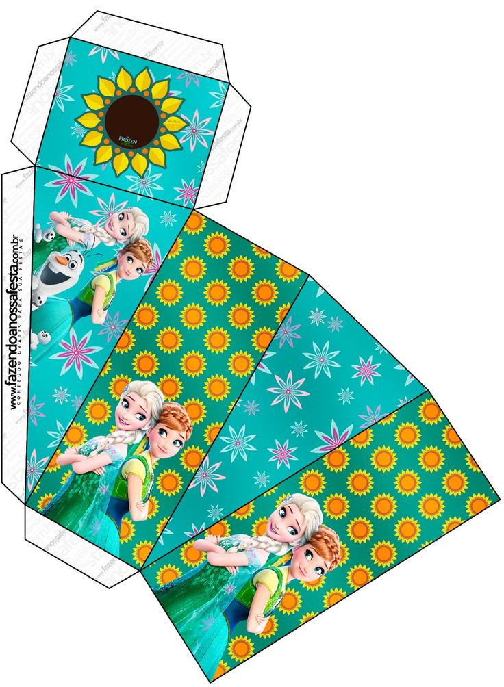 Frozen Fiebre Congelada: Cajas para Imprimir Gratis.