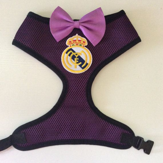 innovative design 153cd 9c81a Real Madrid football harness for dogs | Football Soccer ...
