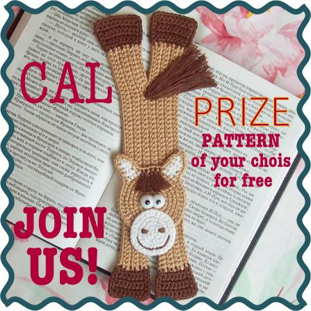 Who wants to crochet Horse bookmark together? Join our CAL (Crochet-A-Long) on Ravelry  Let's have a chat and encourage one another to finish the project! PRIZE for the best picture!  Pattern by LittleOwlsHut  http://www.ravelry.com/discuss/little-owls-hut-amigurumi-crochet-patterns/2697563/1-25#5