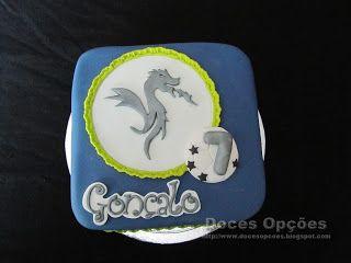 Doces Opções: Bolo para o aniversário do dragão Gonçalo