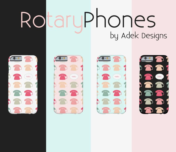 Multicoloured Rotary Phone pattern phone cases available on a variety of phone models. Check 'em out here:  http://www.zazzle.com/adekart/products?dp=0&sr=250937578168392911&cg=196430820200659531