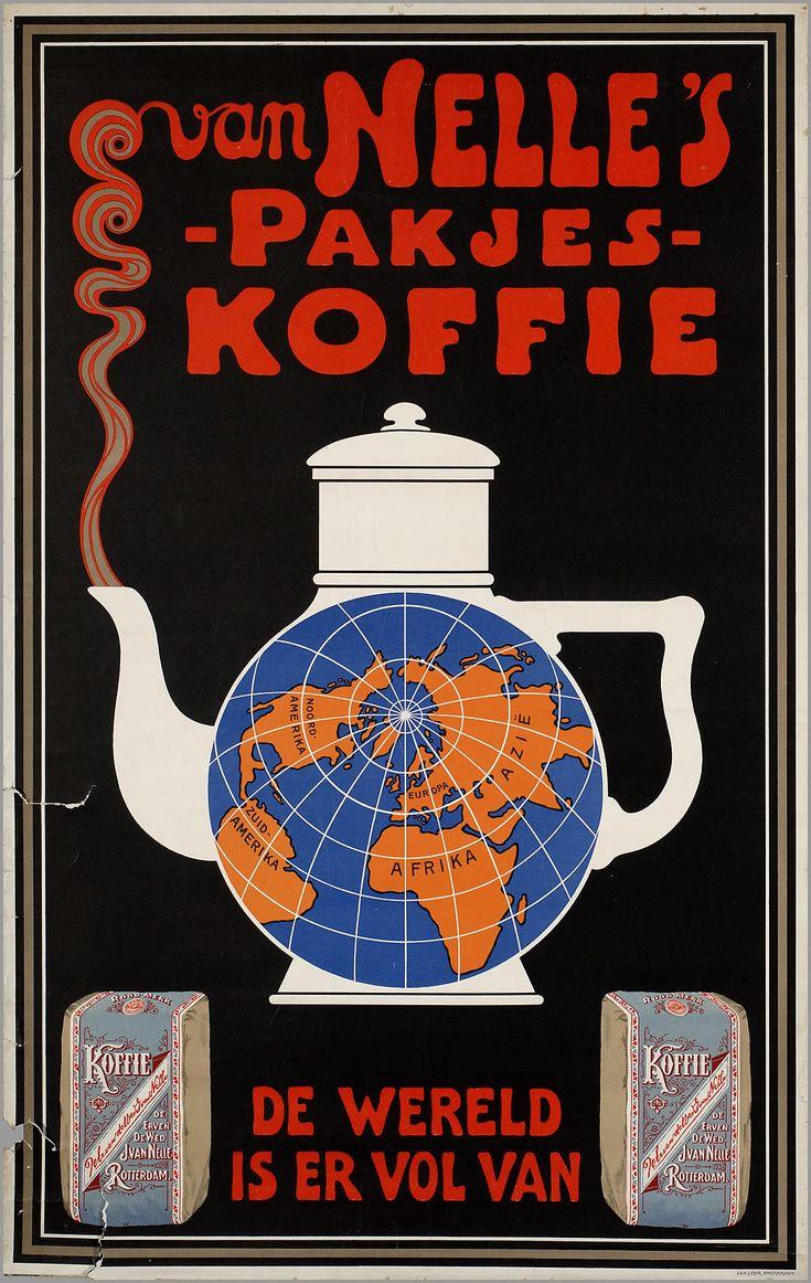 Van Nelle's pakjes koffie. De wereld is er vol van.