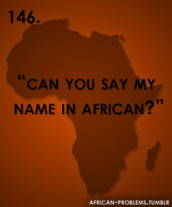 my name in african