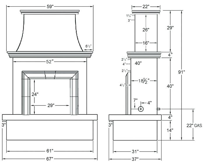 Fireplaces Sizes Fireplace Electric Fireplaces Sizes Fireplace Dimensions Outdoor Fireplace Plans Fireplace Makeover