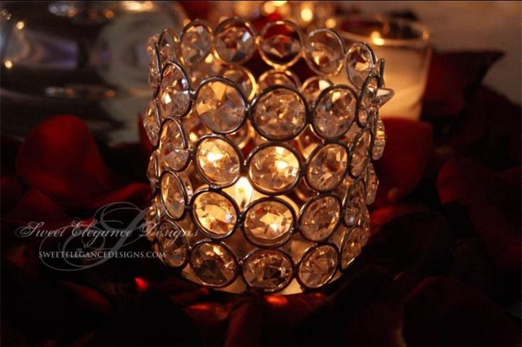 Crystal votive romantic candle light elegant wedding