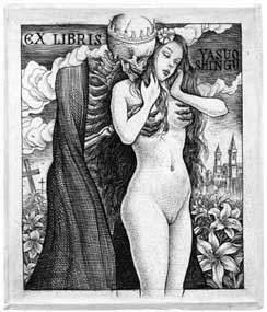 La muerte y la doncella. Ex libris