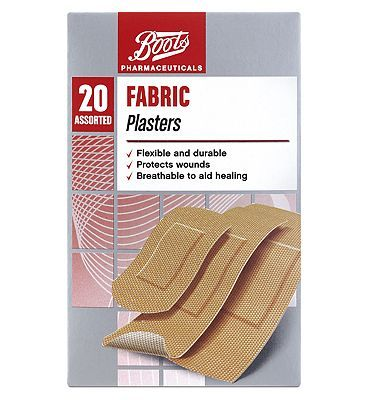 #Boots Pharmaceuticals Boots Fabric Plasters- 20 Assorted 10112718 #4 Advantage card points. Flexible and durable Protects wounds Breathable to aid healing Always read the product label before use. FREE Delivery on orders over 45 GBP. (Barcode EAN=5000167080483)