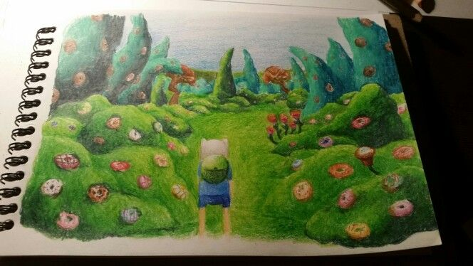 Adventure Time Finn in Witch's garden