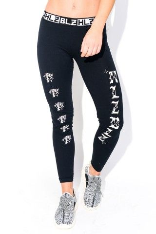 Svarta Leggings - Moussey