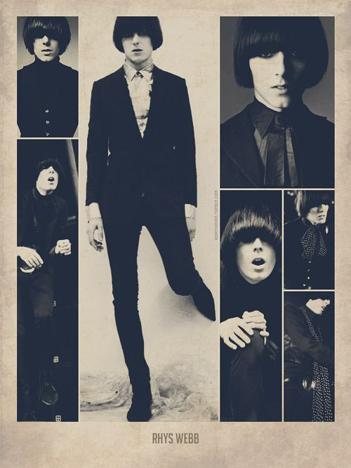 The Horrors' Rhys  Webb-my favorite bassist and my paisley prince <3