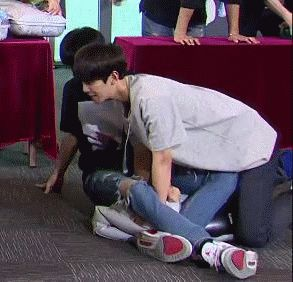 baekhyun and chanyeol in Strongest Group