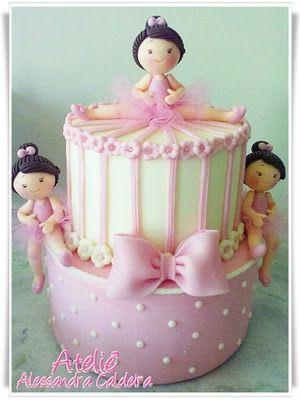 Triple Ballerina Cake