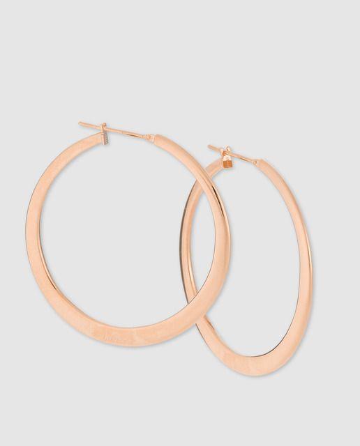 37f3b2c8ea51 Pendientes de aro en oro rosa El Corte Inglés