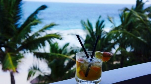 Seychelles' Mixology Creole Cobbler - a travelling cocktail, miles and miles away, with Old Tom gin, fresh,s queezed citric fruits, tropical fruits and bitter