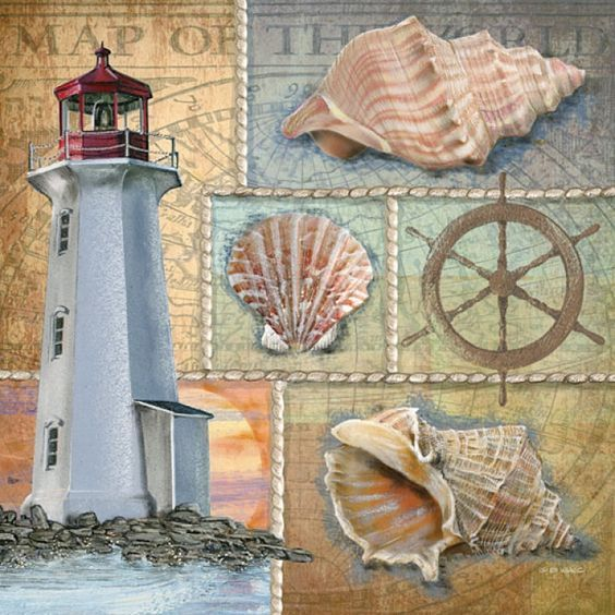 beach and lighthouse i Ed Wargo