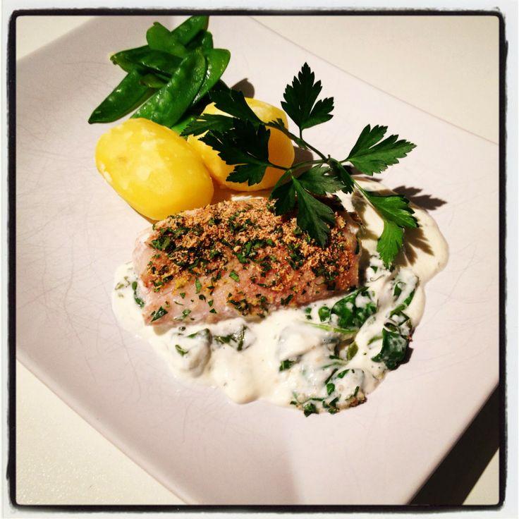 Ugnsbakad torskrygg med pepparrotskräm på 9 ProPoints från Gourmet light - en blogg med recept på god lyxig mat som alla är ProPoints beräknade