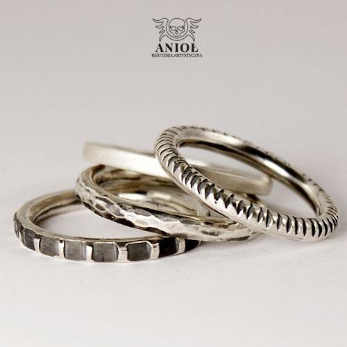 4 RING - obrączki męskie / Anioł / Biżuteria / Dla mężczyzn