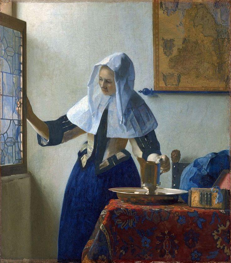 http://izbrannoe.com/news/iskusstvo/vse-izvestnye-kartiny-yana-vermeera/ «Молодая женщина с кувшином воды» (Метроплитен-музей)