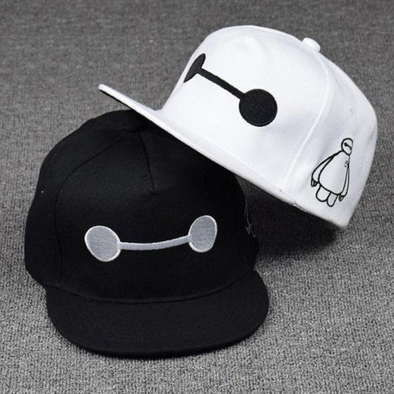 Accessories Big Hero 6 Baymax Adjustable Hip-Hop Snapback Hat Boy Fashion