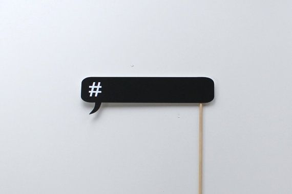 Social Media Photo Booth Props  Chalkboard Hashtag by TOASTEDProps, $6.00