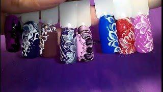 Repeat youtube video Цветы и узоры 3D гелем  Пломбир. Дизайн ногтей гель лаком для начинающих.