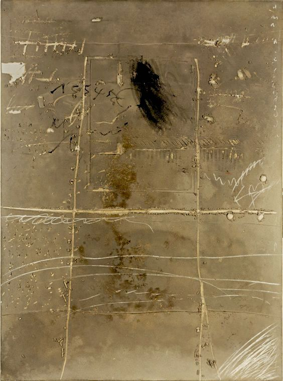 Antoni Tàpies - Scrittura sul muro (Write on Wall), 1971