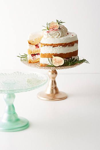 Anthropologie Metallic Lace Cake Stand