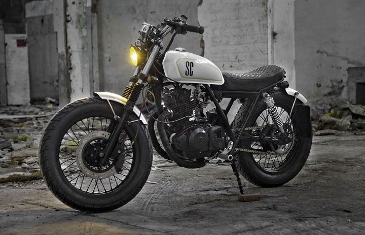 suzuki gn250 street tracker by shanghai customs. Black Bedroom Furniture Sets. Home Design Ideas