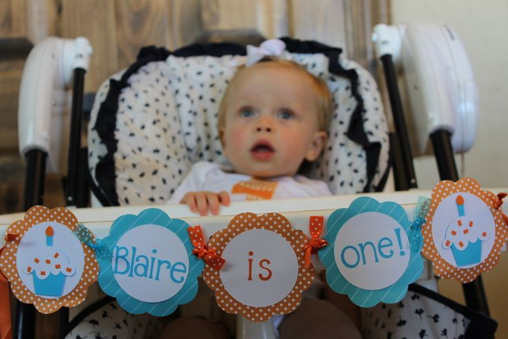 "It's a great idea to decorate the ""chair of honor"" for all the cake photos at baby's first birthday. They won't stay clean long of course! For party ideas for Baby's 1st birthday and more celebrations visit YouCanPlanAparty.com"