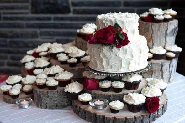 Tis the Season....My Modern Mountain Winter Wedding - LOTS OF PICS :  wedding alberta aviation banff canada destination modern mountain pilot red rustic ski winter Cake Table Whole Size
