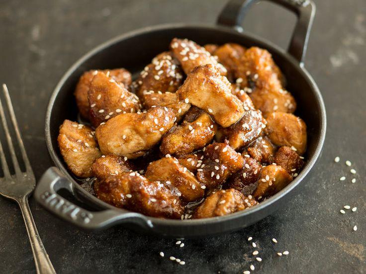 Das asiatisch angehauchte Hähnchenfleisch überzeugt in dieser süßlichen Variante mit Aromen von Honig, milder Chili und Sesam.