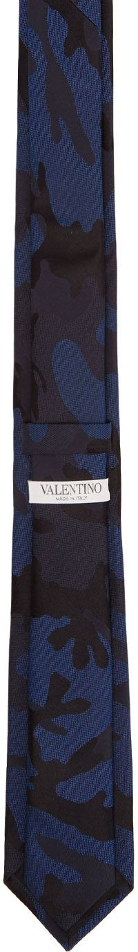 Valentino - Navy Valentino Garavani Camo Tie