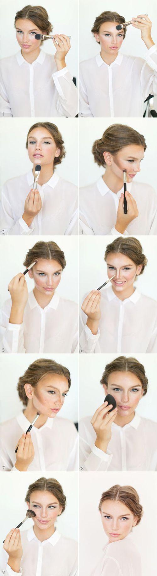 Contorno e iluminacion con maquillaje ¡en 9 pasos! mira lo fácil que es perfeccionar tu rostro. #MakeupTips #Beautyblender