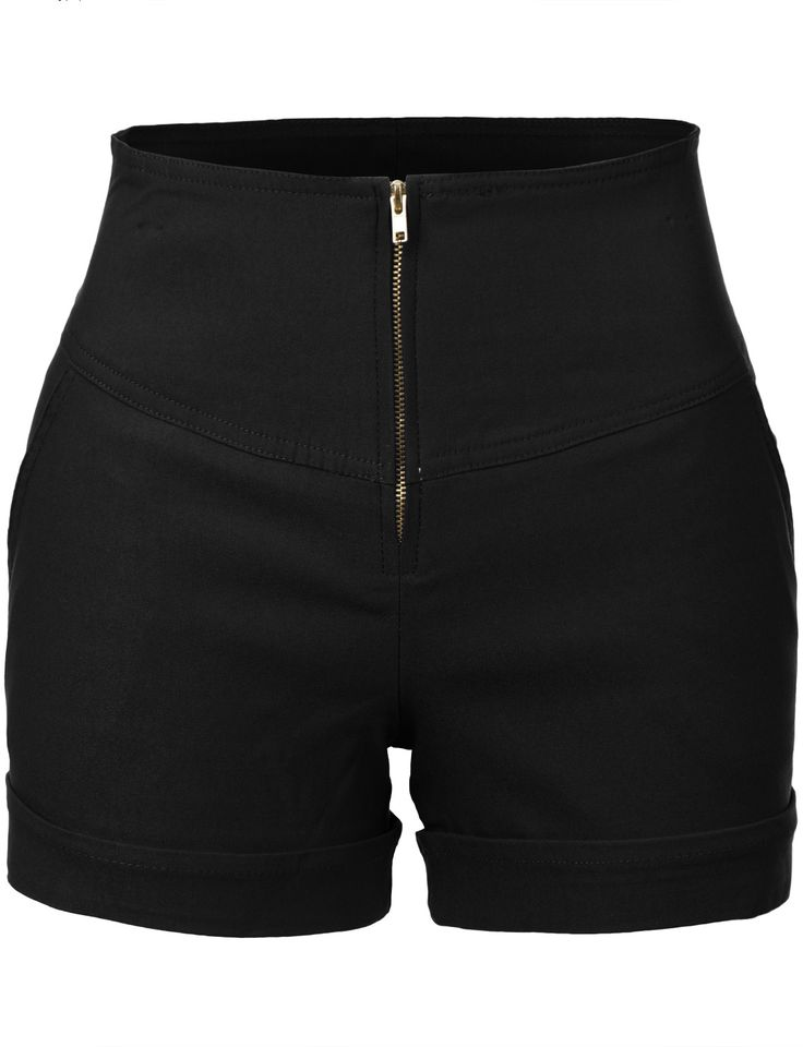 These retro-inspired high waisted anchor nautical sailor shorts with pockets are so on trend! The clean, sophisticated cut on these shorts makes it perfect for day or night. Wear it with a loose blous