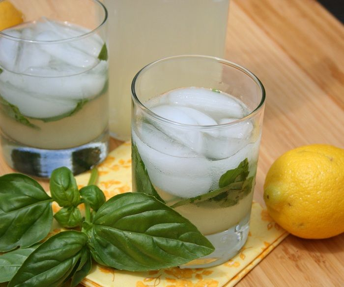 Spiked Basil Lemonade (Sugar-Free)  June 27, 2012  by Carolyn    Basil Lemonade RecipeIs there anything more refreshing on a hot summer day than a glass of ice cold lemonade? And is there anything more relaxing after a long week of work than a cocktail on Friday afternoon? What do you do if it's a hot summer Friday afternoon after a long week of work? You combine the two, naturally!  Okay, so it's not actually Friday yet but assuming that it has already been a long week for you, and i