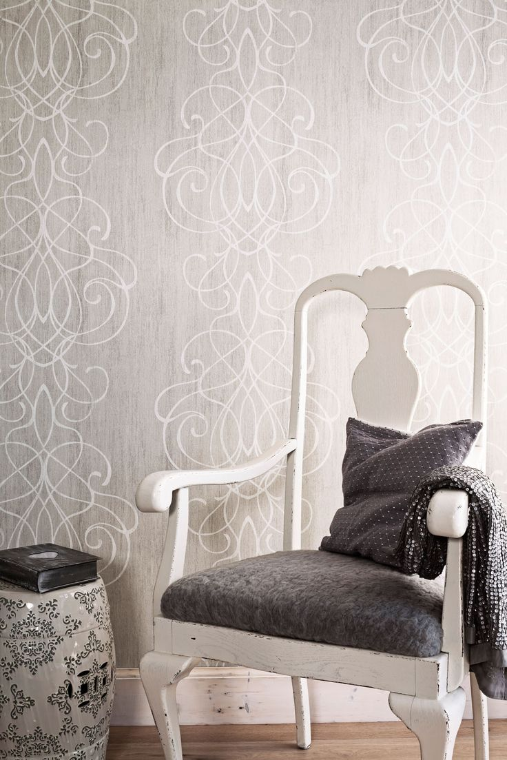 Wallpaper Camarque Grey white / Behang Camarque grijs wit - BN Wallcoverings #hearthomebettaliving