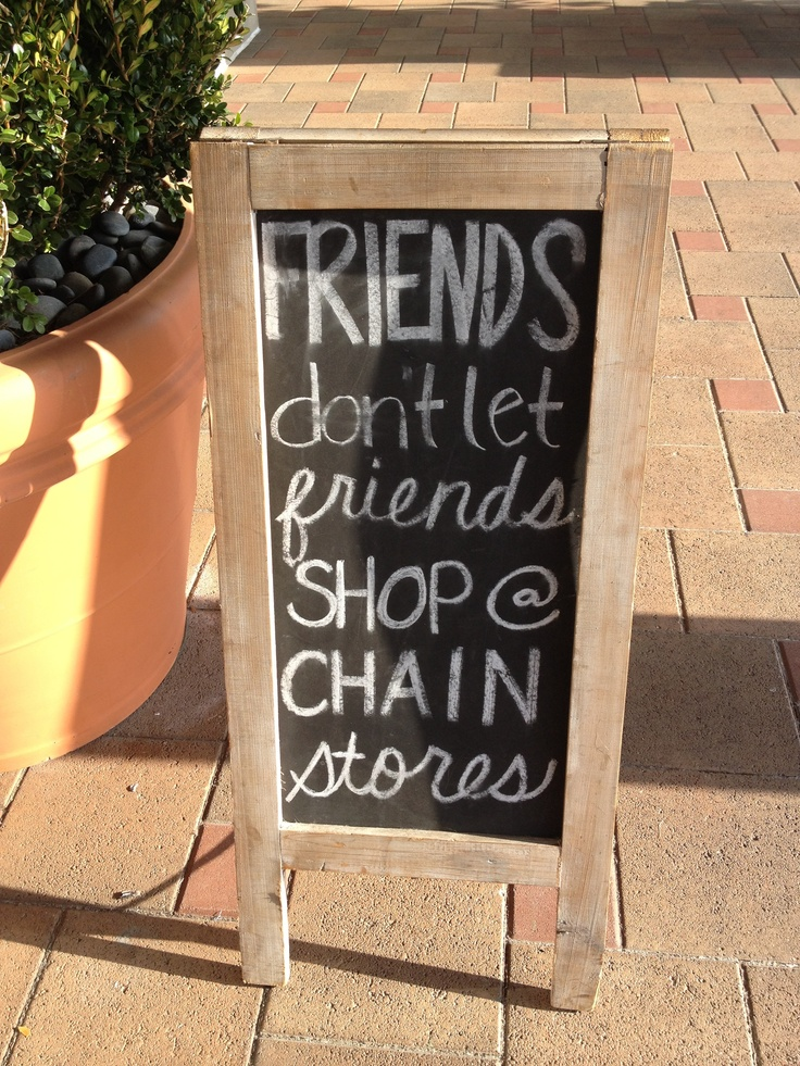 support small businesses! {sign from juxtaposition home}