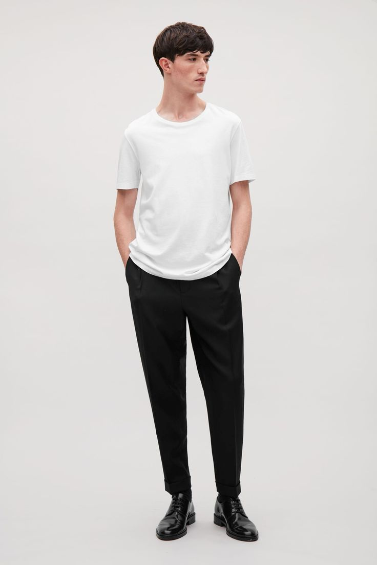 COS image 57 of Round-neck t-shirt in White