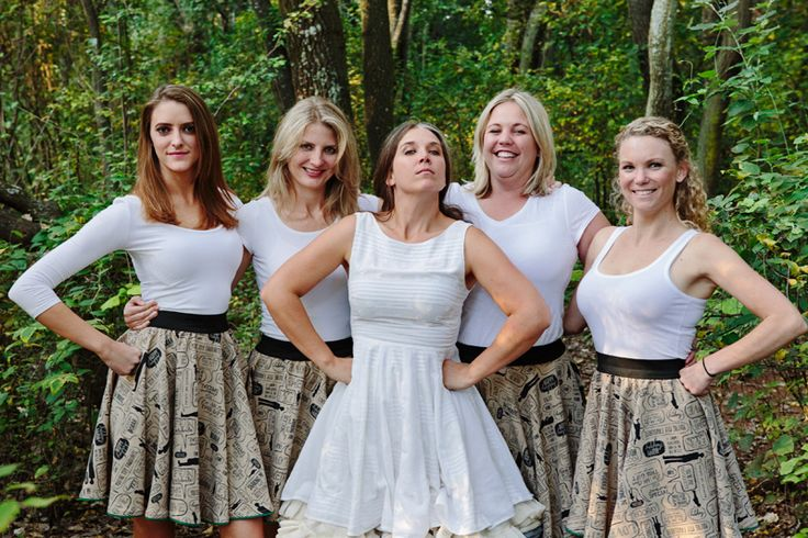 I'm happy we went with simple for my wedding! I bought the dress for under R900 and had it altered into a circle skirt to make way for my petticoat. The bridesmaids (and groomsmaid) looked great with simple, funky circle skirts and white shirts they felt comfy in
