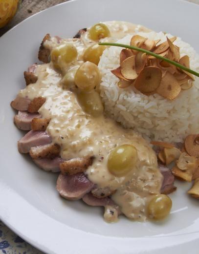Jantar especial para o dia de São Valentim por Les Gourmands Club (Peito de Pato Agridoce)