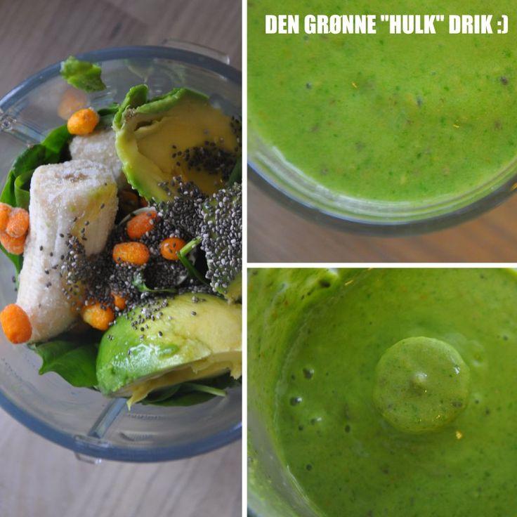 Den grønne hulk smoothie :)