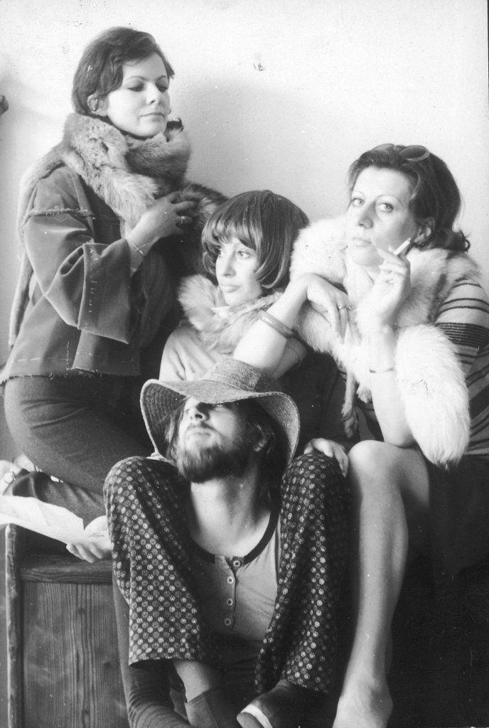 Projektanci Mody Polskiej Magda Ignar, Irena Biegańska, Kalina Paroll, na dole Jerzy Antkowiak