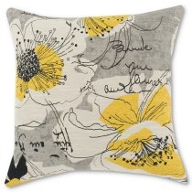 17 in. Perdue En Giverny Jaune-PS Black PillowGuest Room, Yellow Pillows, Giverny Jaune P, Perdu En, 17X17 Pillows, Pillows Talk, Throw Pillows, Black Pillows, En Giverny