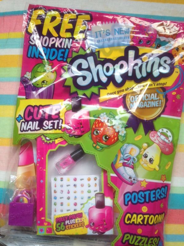 Shopkins magazine issue #1 i dont kown where to get but if i find out i tell you guys
