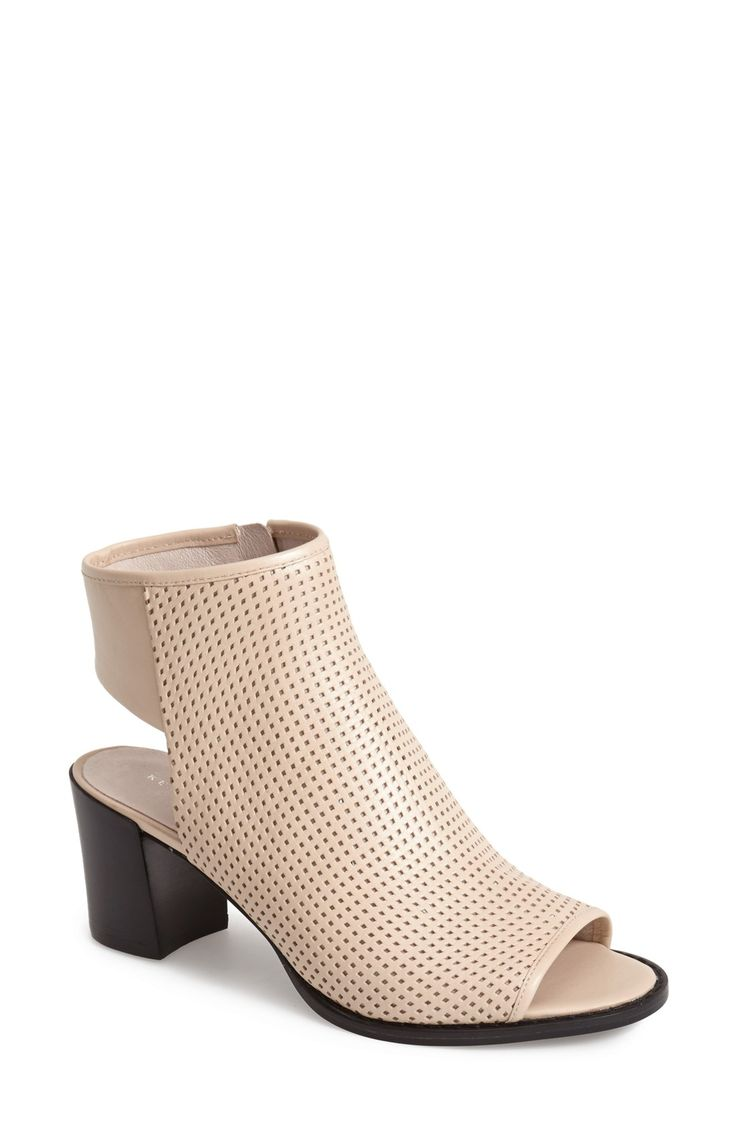 Kenneth Cole New York 'Shay' Open Toe Perforated Leather Bootie (Women)