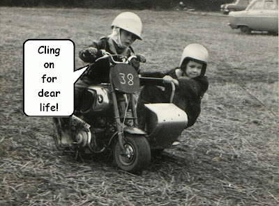 kids racing a sidecar